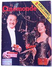 CINEMONDE du 22/12/1955; Micheline Presle et F. Gravey/ Joan Collins/ P Brasseur