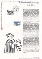 Document Philatélique Timbre 1er Jour : 24/04/ 2005 - Libération des Camps