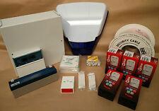 Scantronic 9651 EN41 Intruder Alarm System LCD Keypad 5 Pyronix PIRs & DeltaBell