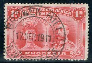 1910 Rhodesia Double Head 1d P14 SG124 Fine BROKEN HILL CDS VFU