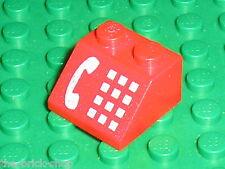 LEGO red slope brick phone ref 3039p12 / Set 4532 6345 4031 6399