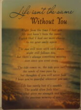 Memorial Grave Card Life isn't the same Without You 16.5cm x12cm Waterproof