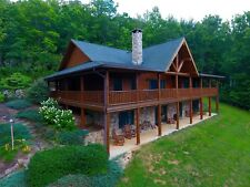 Executive Log Home w/Gated Entrance 4BD/3BA w/2 bonus rooms. Franklin, NC