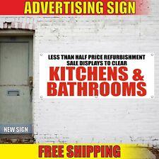 Kitchens Bathrooms Banner Advertising Vinyl Sign Flag furniture shop store best