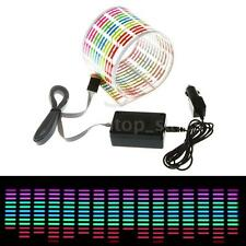 Romantic Car Music Rhythm Sticker LED Flash Light Sound Activated Equalizer O1M0