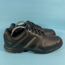 Nike Air Tour black leather Golf Shoes Cleats 418536-001 Size 10W 2011