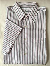 Lacoste men's  short sleeve stripe shirt size  Large /   Eur 43