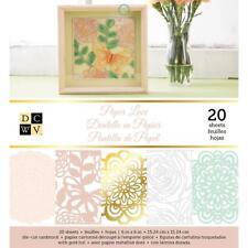 DCWV 6x6 Paper Pad PAPER LACE Cardstock Floral Doilies 20 sheets 5 designs