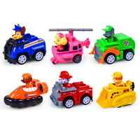 6pcs Rescue Dog Toy Vehicle Dog Action Figure Model Child kids Gift