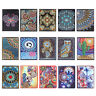 DIY Mandala Special Shaped Diamond Painting 60 Sheets Students A5 Notebook Decor
