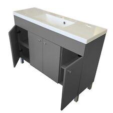 Badmöbel Set 120 Waschbecken mit Unterschrank Waschtisch 120cm Graphit