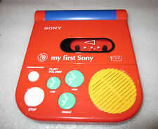 MC Player WM Sony MY first Sony  Cassette Walkman . (Rot)