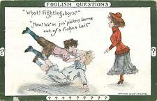 Cobb Shinn~Foolish Questions~Lady Says Fighting, Boys?~Naw Jus Picken Burrs