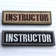 2PCS INSTRUCTOR TAB TACTICAL MILITARY USA ARMY ISAF MORALE SWAT OPS PATCH