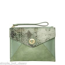 Mimco Womens Fiction Envelope Clutch Bag/ Handbag in Spearmint BNWT- rrp$149