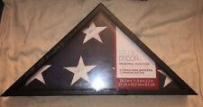 US Veteran Military Memorial American Burial Flag Display Case Black Frame