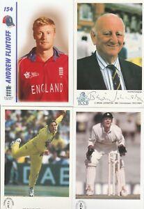 6 cricket postcards joblot Freddie Flintoff B Johnston R Blakey Shahid Afridi