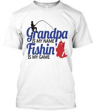 Grandpa Game Is Fishing! - My Name Fishin Hanes Tagless Tee T-Shirt