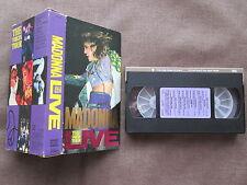 MADONNA The Virgin Tour Live JAPAN NTSC VHS VIDEO w/SPECIAL SLIP CASE 10JV-38105