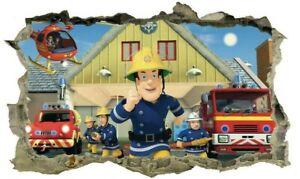 Fireman Sam,Sticker,Decal,Kids,Bedroom,3d,Wall Art,Mural