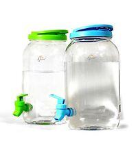 Doble Bebidas Dispensador 6L- Plástico Bote Jarra Hogar Fiesta Picnic Jardín B Q