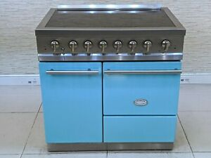 LACANCHE 90 CM MODERN BUSSY INDUCTION ALL ELECTRIC RANGE COOKER IN BLUE A595