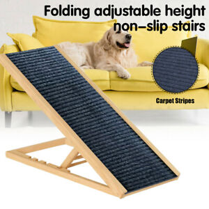 Foldable Dog Pet Ramp  Adjustable Height Dogs Stairs for Bed Sofa Car 70cm/100cm