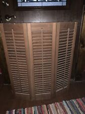 Vintage Wooden Interior Louver Window Shutters