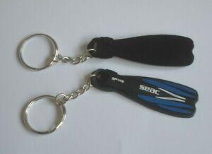 Seac Flipper Fin  Scuba Key Ring Blue