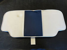 "CROWNLINE B21 SEAT CUSHION 111965 WHITE / NAVY 35 5/8"" X 16 1/4"" MARINE BOAT"