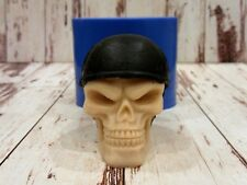 """Skull in helmet"" silicone mold for soap and candles making mould molds"