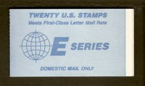 """E"" Stamp Booklet of #2282a, Pl.# 1111."