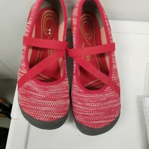 KEEN FABRIC RED WALKING SHOES SNEAKERS SIZE 10 1/2