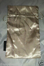 """SEPHORA Golden Champagne Cosmetic/Makeup Gift/Travel Bag/Pouch 3pc Lot  5""""X8.5"""""""