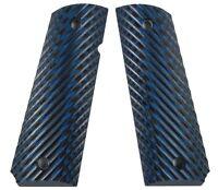 LOK Grips Full Size Custom 1911 Grips Ridgebacks Blue/Black