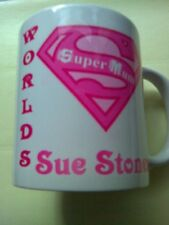 Any Name Printed onto Our 'WORLDS BEST' SUPER MUM Personalised Mug! **FREE P&P**
