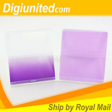 New Square Graduated Gradual + Solid Purple Color Filter for Cokin P Series UK
