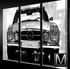 Mercedes SL W113 Pagode 280SL LEINWAND 3 Keilrahmen Bild Auto Poster Canvas Art
