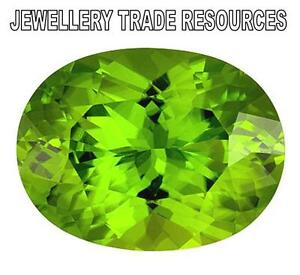 14mm x 10mm Oval Cut Natural Green Peridot Gem Gemstone