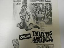 1963 DRUMS OF AFRICA Press Book Kit Frankie Avalon MARIETTE HARTLEY FN+