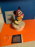 "Vintage Schmid Minnie Mouse Music Box ""Command Performance"" Figure Skater Waltz"