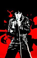 Elvis Presley Oil Painting 28x16 not print or poster 68 comeback Hawaii Vegas