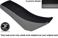 BLACK & GREY AUTOMOTIVE VINYL CUSTOM FITS DERBI SENDA BAJA 125 DUAL SEAT COVER