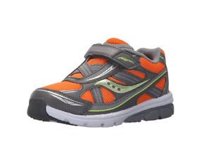Saucony Little Kid/Toddlers Baby Ride Running Shoe, Orange/Grey