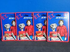 4 Vintage E.T. (Extra-Terrestrial) Child'S Toy Pins Mip