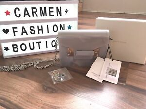AUTHENTIC SOPHIE HULME COMPTON ENVELOPE PERSPEX CLUTCH BAG GREY WITH SILVER H/W
