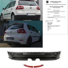 Heck Diffusor Duplex Stoßstangeneinsatz hinten Schwarz Stoßstange für VW Golf 5
