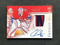 2015-16 SP AUTHENTIC ZACHARY FUCALE ROOKIE RETRO FUTURE WATCH AUTO PATCH 8/25