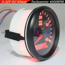 Fast Shipping 85mm 12/24V 0-4000RPMCar SUV Marine RPM Tachometer Gauge LCD Meter