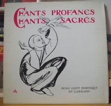 CHORALE SAINT DOMINIQUE DU CAMMAZOU CHANTS PROFANES ET SACRES FRENCH LP 1982